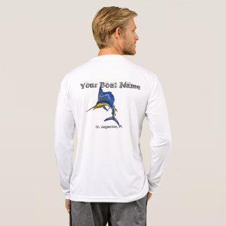 Namn för personligSailfishfartyg och portskjorta Tee Shirt
