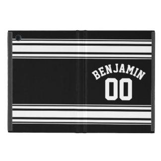 Namn för sportJersey numrerar det svartvita randar iPad Mini Cover