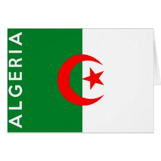 namn för text för algeria landflagga hälsningskort