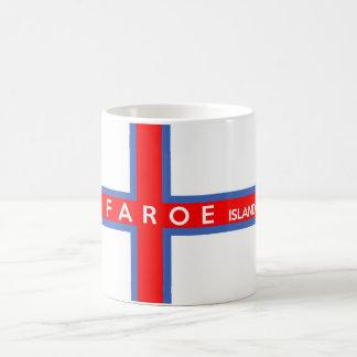 namn för text för Faroe Island landflagga Kaffemugg