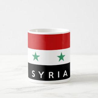 namn för text för syria flaggaland vit mugg