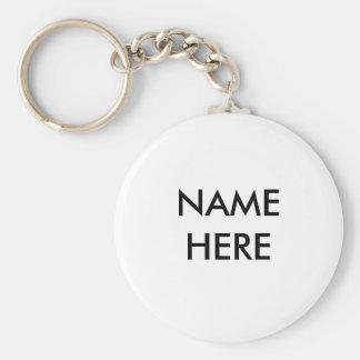 Namn här Keychain Rund Nyckelring