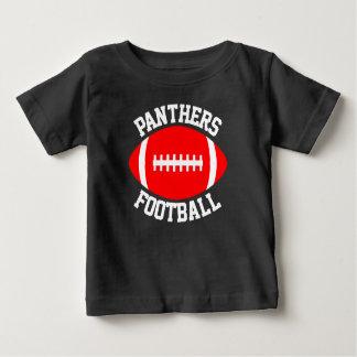 Namn & Jersey för lag för röd fotbollbaby numrerar T Shirt