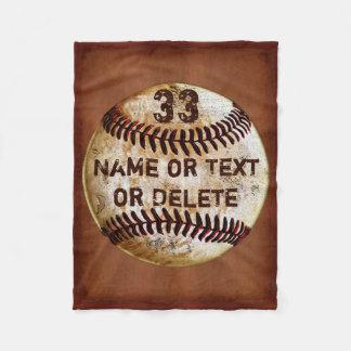 Namn Jersey numrerar kall baseballfilt, 3 Fleecefilt