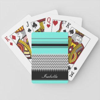 Namngav Mint Göra randig och sparre Casinokort