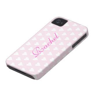 Namnger initiala R flickor för personlig gulliga Case-Mate iPhone 4 Cases