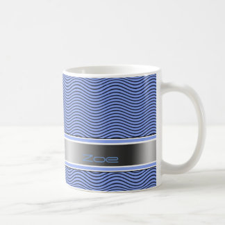 Namngiven blått vinkar kaffemugg