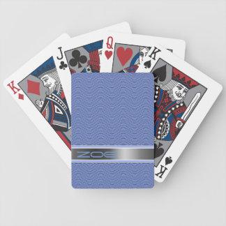 Namngiven blått vinkar spel kort