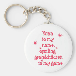 Nana är mitt namn som spolierar barnbarn rund nyckelring
