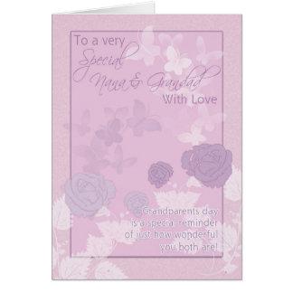 Nana & Grandad, morförälderdagkort - rosa, ända Hälsningskort
