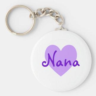 Nana i lilor rund nyckelring