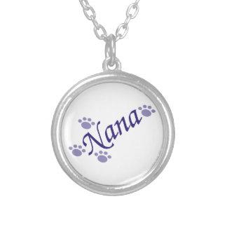 Nana med tasshalsbandet silverpläterat halsband