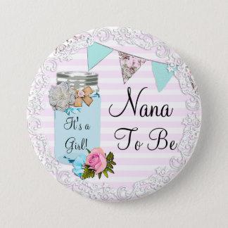 Nana som är den lantliga blåttMasonburken, knäppas Mellanstor Knapp Rund 7.6 Cm