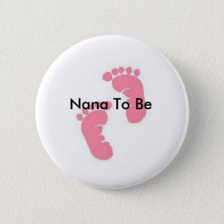 Nana som är standard knapp rund 5.7 cm