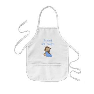 Nanas lite apa - blåttTshirts och gåvor Barnförkläde