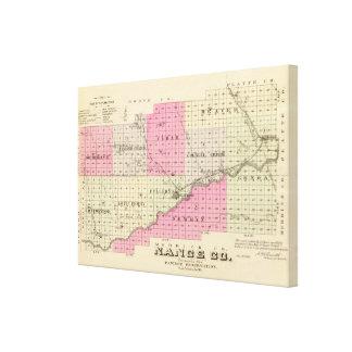 Nance County Nebraska Canvastryck