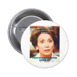 NANCY PELOSI- EN DUM PERSON STANDARD KNAPP RUND 5.7 CM
