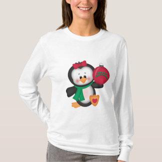 Nano t-skjorta för julpingvinlångärmad