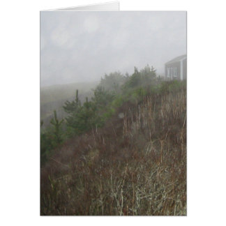 Nantucket dimma hälsningskort