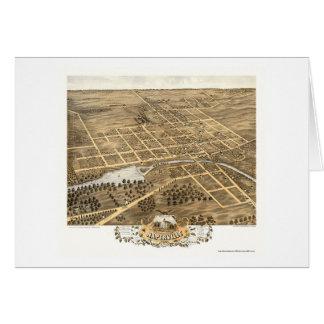 Naperville IL panorama- karta - 1869 Hälsningskort