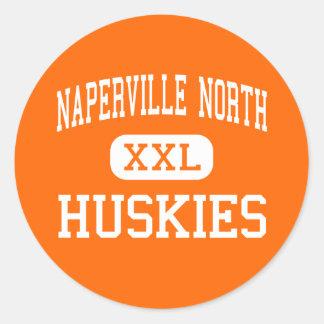 Naperville norr - Huskies - kick - Naperville Runt Klistermärke