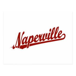 Naperville skrivar logotypen i rött vykort