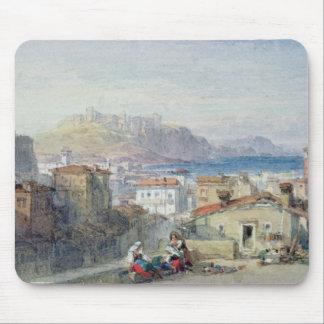 Naples 19th århundrade; akvarell; musmatta