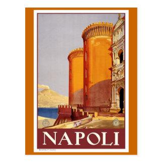 """""""Naples"""" vintage resoraffisch Vykort"""
