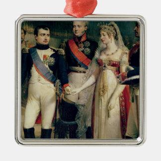 Napoleon Bonaparte häleridrottning Louisa Julgransprydnad Metall