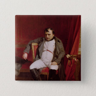 Napoleon efter hans abdikering standard kanpp fyrkantig 5.1 cm