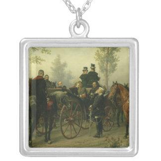 Napoleon III och Bismarck Silverpläterat Halsband