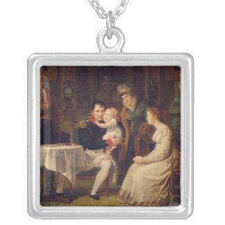 Napoleon mig Marie Louise och kungen av Rome Silverpläterat Halsband