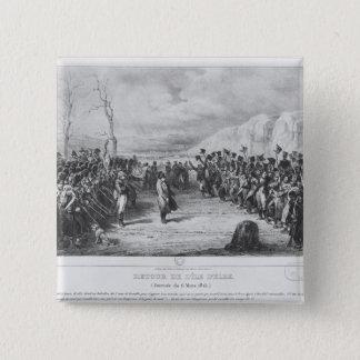 Napoleon mig som går tillbaka från Elba Standard Kanpp Fyrkantig 5.1 Cm