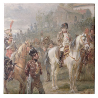 Napoleon och hans soldater (olja på panel) (para a kakelplatta