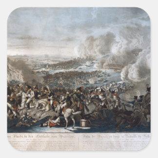 Napoleons flyg från striden av Waterloo Fyrkantigt Klistermärke