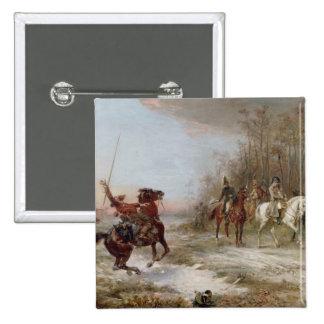 Napoleons risk på Brienne-le-Chateauen, c.1891 (oi Standard Kanpp Fyrkantig 5.1 Cm