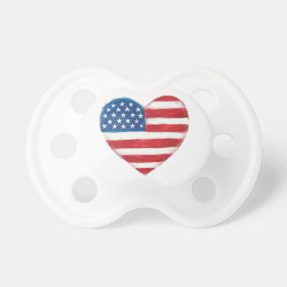 Nappar för baby för USA hjärtaflagga