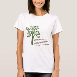 När endast det sist träd t-shirt