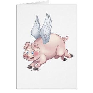 När grisar flyger notecard OBS kort