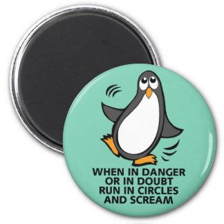 När i fara eller i den grafiska roliga pingvinet magnet