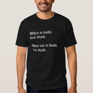 När i tvivelbärasvarten - gothskjorta tee shirt