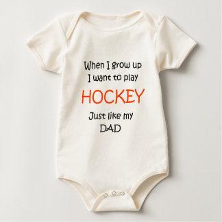 När jag växer upp hockeytext endast creeper