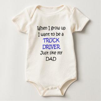 När jag växer upp lastbilsföraretext endast body för baby