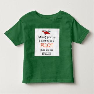 När jag växer upp pilot- t-shirt