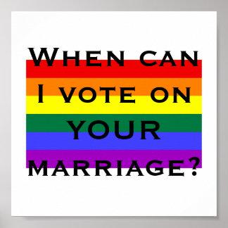 När kan jag rösta på DITT giftermål? Poster