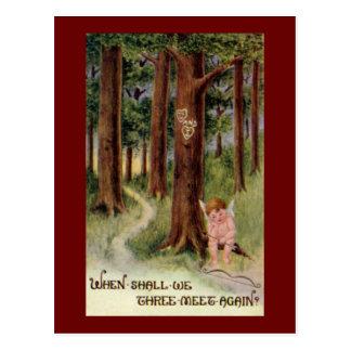 När, möter vi vintagevalentinvykortet vykort