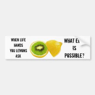 När räcker liv dig citroner - WEIP? Bildekal