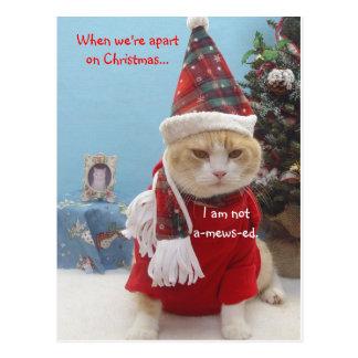 När vi är ifrån varandra på jul…,… vykort