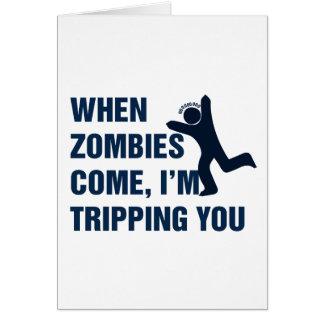 När Zombies kommer I-förmiddagen som snubblar dig Hälsningskort