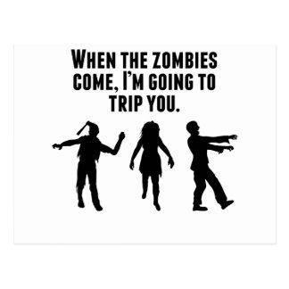 När Zombies kommer I-förmiddagen som snubblar dig Vykort